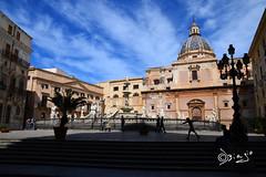 Palermo-Italy (Biagio ( Ricordi )) Tags: palermo sicily italy nuvole chiesa cattedrale architettura lampioni scale