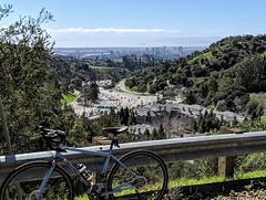 2019 Bike 180: Day 025 Bike, Homes, Freeway, Skyscrapers, Lake, Ocean (spamajama) Tags: 2019bike180