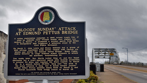 'Bloody Sunday' Attack at Edmund Pettus Bridge' Selma (AL) March 2019, From FlickrPhotos