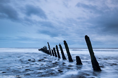 Walney Groyones (tony johnston Images) Tags: seascape walneyisland southwalney sea barrowinfurness seashore groynes bluehour longexposure cumbria tidal tide