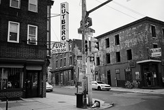R3-036-16A (David Swift Photography) Tags: davidswiftphotography philadelphia northphilly signs storefronts abandoned abandonedbuildings graffiti urban urbandecay streetphotography ilfordxp2 olympusstylusepic