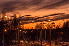 Highway in Kuopio (VisitLakeland) Tags: finland kuopio kuopiotahko lakeland auringonlasku evening highway ilta maantie moottoritie road sunset tie