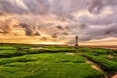 Sunset New Brighton Lighthouse (colin@thecranes.co.za) Tags: 2017 newbrightonlighthouse sunset liverpool clouds