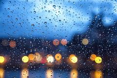 Meissen behind a curtain of raindrops (micagoto) Tags: raindrops wet rain regen regentropfen schietwetter nass bluehour blauestunde meissen meisen bokeh albrechtsburg availablelight