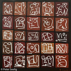 Looking Back - The Windows Of My Life (Peter Seelig) Tags: mixedmedia acrylic pigmentsticks 100x100cm 2018 peterseelig paintings