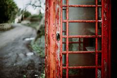 out of order... (Jess Feldon) Tags: lane outoforder 50mm old decay phonebox phone designclassic peeling paint countryside village gloucestershire jessfeldon lookslikefilm vintage
