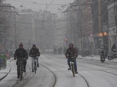first snow (kaylovesvintage) Tags: amsterdam snow snowflakes winter city citylife amsterdamcity prettycity wintertime winterdays