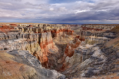 Coal Mine Canyon (markwhitt) Tags: markwhitt markwhittphotography arizona tubacity coalminecanyon navajonation southwest cliffs canyon scenic scenery travel landscape nature outdoors colors colorful clouds nikon adventure photography view looks like bryce miniature