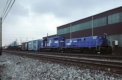 Slug (jameshouse473) Tags: slug set rsd12 prr pennsylvania railroad conrail cr nyc new york central pennsy alco sd38 emd buffalo frontier yard 1984