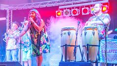Malavita at Kingsbridge Fairweek 2018 (tramsteer) Tags: tramsteer malavita kingsbridgefairweek band gig smoke music musicians drums trumpet devon southdevon geotag