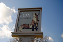 The Fox at Coulsdon Common (zawtowers) Tags: london loop section 5 five hamseygreentocoulsdonsouth walk amble stroll walking exploring outer suburbs green spaces sunday 24th march 2019 warm dry sunny afternoon blue skies sunshine fox pub sign coulsdon common space open turn off