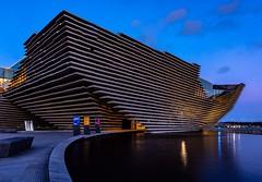 Museumy McBoatface (darrenjcampbell) Tags: nighttime bluehour twilight europe unitedkingdom greatbritain scotland dundee museum design scottish va