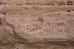Inscriptions at El Morro National Monument (Lee Rentz) Tags: 1859 antiquitiesact cibolacounty coloradoplateau dmorrow elmorro elmorronationalmonument inscriptionrock inscriptionrocktrail newmexico pgilmerbreckinridge theodoreroosevelt trailoftheancientsbyway america americanwest archaeological archaeology army camels carved carving cultural culture desert dry historic history horizontal journey landscape nature northamerica oasis passing path pool record rock route sandstone source southwest stone trail travel traveler usa water wateringhole west