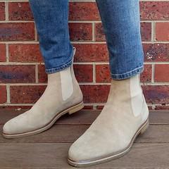 Street wear, urban wear. Chelsea Boots (marcwenn) Tags: streetwear urbanwear chelseaboot marcwennboot marcwennchelsea beigeboot beigesuede suedeboot crepesole