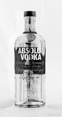 absolut (amazingstoker) Tags: negative inverted absolute vodka bottle still life monochrome black white liquid spirits