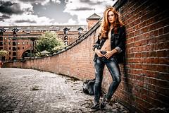 Castlefield Wall (timmawphotography) Tags: castlefield hits radio wall jenny osullivan model manchester fashion demin jeans jacket docks canel