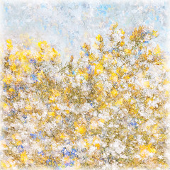 43/365 (Jane Simmonds) Tags: iphone multipleexposure gorse forestofdean abstract commongorse impressionist