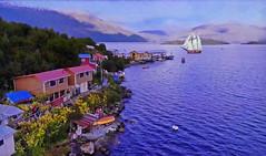 PATAGONIA (Jacques Rollet (Little Available)) Tags: patagonia mer sea boat bateau voilier rivage sailship eau water maison house landscape paysage seascape chili