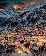 Schweiz - ZERMATT - Beautiful night (monte-leone) Tags: zermatt panorama schweiz switzerland