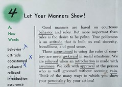 Let Your Manner Show! (TedParsnips) Tags: textbook text school schoolbook book reading elementaryschool manners lesson