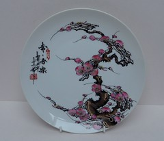 CHINESE PORCELAIN PLATE (Marcusborra) Tags: japan japanese vintage antique cherry prunus porcelain ceramic china chinese christian buddhist
