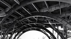 Bridge # 16    ... (c)rebfoto (rebfoto...) Tags: architecture monochrome geometric bridge steelstructure rebfoto architecturalphotography