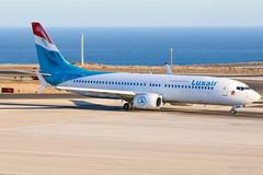 LX-LBA Luxair Boeing B737-800, GCTS, Spain (Sebastian Viinikainen.) Tags: lxlba luxair gcts tenerife b737800