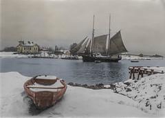 Winter landscape in Helsinki (ab. 1920) (frankmh) Tags: ship tallship landscape winter 1920 helsinki finland