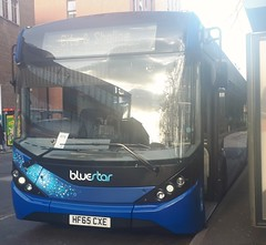 Bluestar 2733 is changing drivers on Vincent's Walk while on route 7 to Sholing. - HF65 CXE - 9th January 2019 (Aaron Rhys Knight) Tags: bluestar 2733 hf65cxe 2019 vincentswalk southampton hampshire gosouthcoast goahead alexanderdennis enviro200mmc