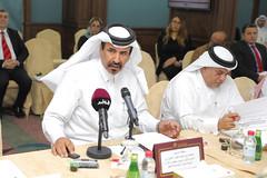 Mohamed bin Ahmed bin Twar - First vice chairman of QC 1 (Qatar Chamber) Tags: qatar oman chamber commerce delegation business