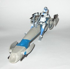 barc speeder bike with clone trooper jesse star wars the clone wars blue black packaging vehicle and figure 2010 hasbro d (tjparkside) Tags: barc speeder bike with clone trooper jesse star wars 2010 hasbro black blue packaging basic action figure figures vehicle vehicles clones troopers blaster blasters rifle rifles phase 1 i bikes speeders galactic battle game stand silver display base general grievous saleucami biker advanced recon commando commandos 501st white