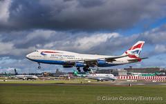 British Airways 747, Dublin Airport, March 2019 (Eiretrains) Tags: 747 britishairways aircraft dublinairport plane gcivb