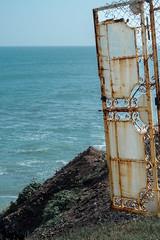 Far away (Aaron Hollowell) Tags: teal sea ocean blue green outdoor landscape beach antique old art new bw