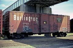 CB&Q Class XM-32D 60192 (Chuck Zeiler 54) Tags: cbq class xm32d 60192 burlington railroad boxcar box car freight train chuckzeiler chz galesburg