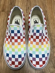 91/365/8 (f l a m i n g o) Tags: shoes new vans rainbow check checker design monday march 25th 2019 project365 365days canvas sneaker shoe style trip vacation