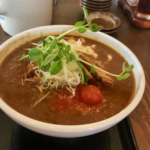 とまとカレーラーメン Tomato curry ramen ¥780