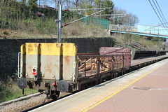 OBA 110325 . (AndrewHA's) Tags: alexandrapalace railway station northlondon oba 110325 open goods freight wagon train wood