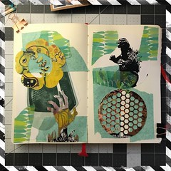 Journal Pages #WIP (Brian Lapsley) Tags: share moleskine made create tech cricut craft artjournal diy make journal art wip
