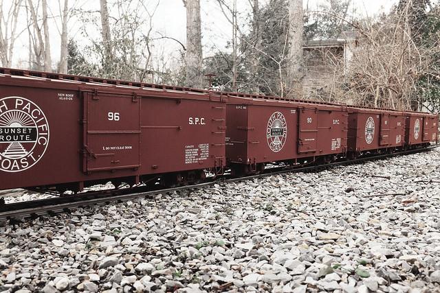 Four SPC Boxcars