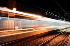 Estació de Rodalies 5 (Xevi V) Tags: cabrera estació renfe train rodalies maresme nit night movement elmaresme trens isiplou llocsambencant estacióderodalies bytrain railroad