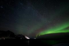 Looking across Ersfjorden, aurora and stars (Steve Selwood) Tags: ersfjorden senja tungeneset aurora