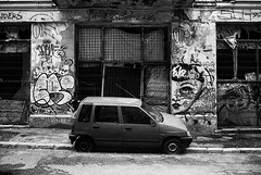 abandoned, alley (Beto_mkna) Tags: hp5 400400 ecopro 11 12min canon ae1 28mm f28 bucharest fd