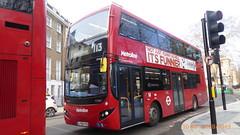 P1140914 VMH2528 LF68 PXD at Baker Street Station Baker Street Marylebone London (LJ61 GXN (was LK60 HPJ)) Tags: metroline volvob5lhybrid mcvevoseti mcv evoseti 105m 10490mm vmh2528 lf68pxd nb906
