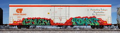Coven/Hower (quiet-silence) Tags: graffiti graff freight fr8 train railroad railcar art coven hower cryx cryo cryotrans insulated boxcar cryx6214