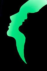 Grugapark Essen (Richter.V) Tags: park botanischergarten parkleuchten person gesicht scherenschnitt beleuchtung illumination kunstobjekt nachtaufnahme nacht licht schatten farbe formen