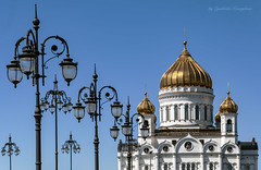 Lanterns and temple (Lyutik966) Tags: cathedral lamp architecture building dome roof design pattern structure texture stone religion moscow russia orthodoxy coth5 sta soe abigfave