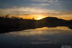 sur le versant ouest du Mont Saint-Michel de Brasparts (Paul Kerrien) Tags: finistere bzh paysage matin reflet campagne bretagne