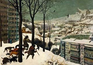 Pieter Bruegel l'aîné chasseurs dans la neige