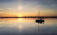 Sleepy Shores (Solent Poster) Tags: djithorneycoastalpath phantom 4 pro plus sunset sunrise peaceful calm seascape landscape sailing boat
