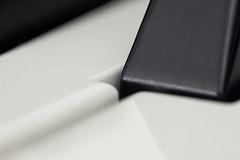 Keyboard Macro (G-daddyArt) Tags: macro keyboard key black white detail minimal minimalist canon50d 100mmmacrolens